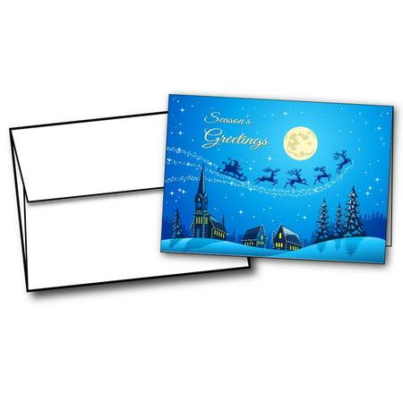 Christmas Night Holiday Cards - 20 Greeting Card - Night Holiday Card