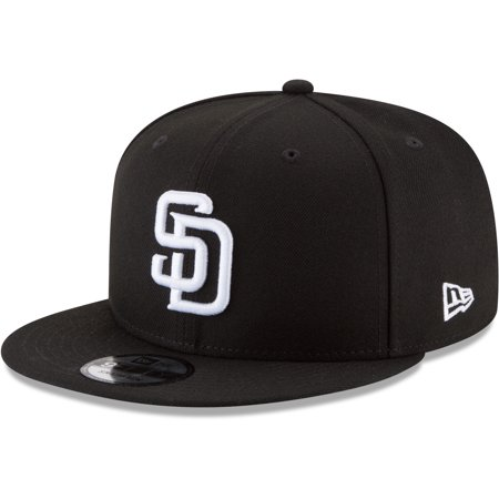 San Diego Padres New Era Black & White 9FIFTY Snapback Hat - Black - OSFA (San Diego Padres Hat)