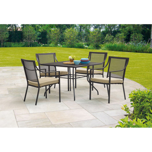 Mainstays Bellingham 5 Piece Patio Dining Set, Seats 4