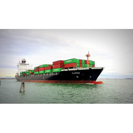 Canvas Print Porto Freighter Cargo Ship Port Merchant Ship Stretched Canvas 10 x 14