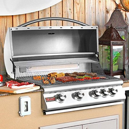 Image of Blaze 32-Inch 4-Burner Built-In Propane Gas Grill With Rear Infrared Burner - BLZ-4-LP