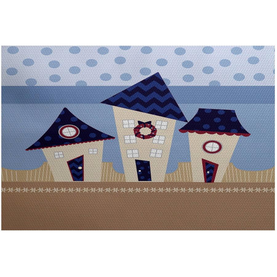 Simply Daisy 2' x 3' Coastal Houses Geometric Print Indoor Rug