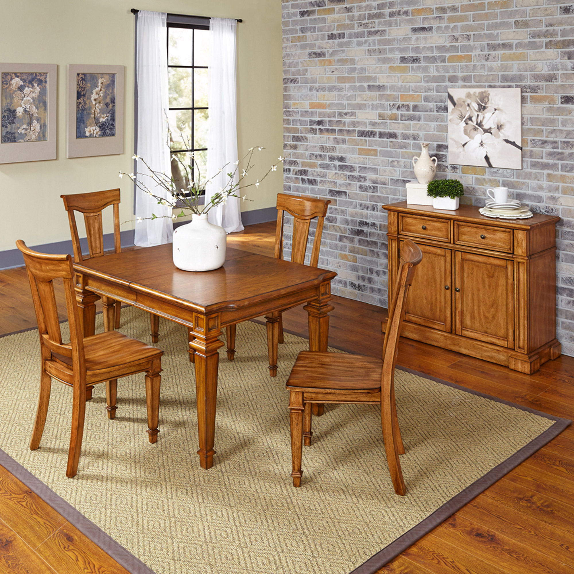 Home Styles Americana 5-Piece Dining Set with Buffet