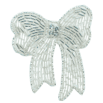 Expo Int'l Beaded Bow with Rhinestone Center Applique