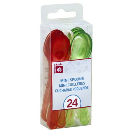 Coloured Plastic Spoons (Mini Plastic Cocktail Spoons, Assorted,)