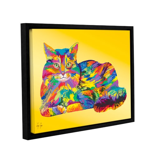 Artwall Giles By Linzi Lynn Framed Painting Print On Wrapped Canvas Walmart Com Walmart Com