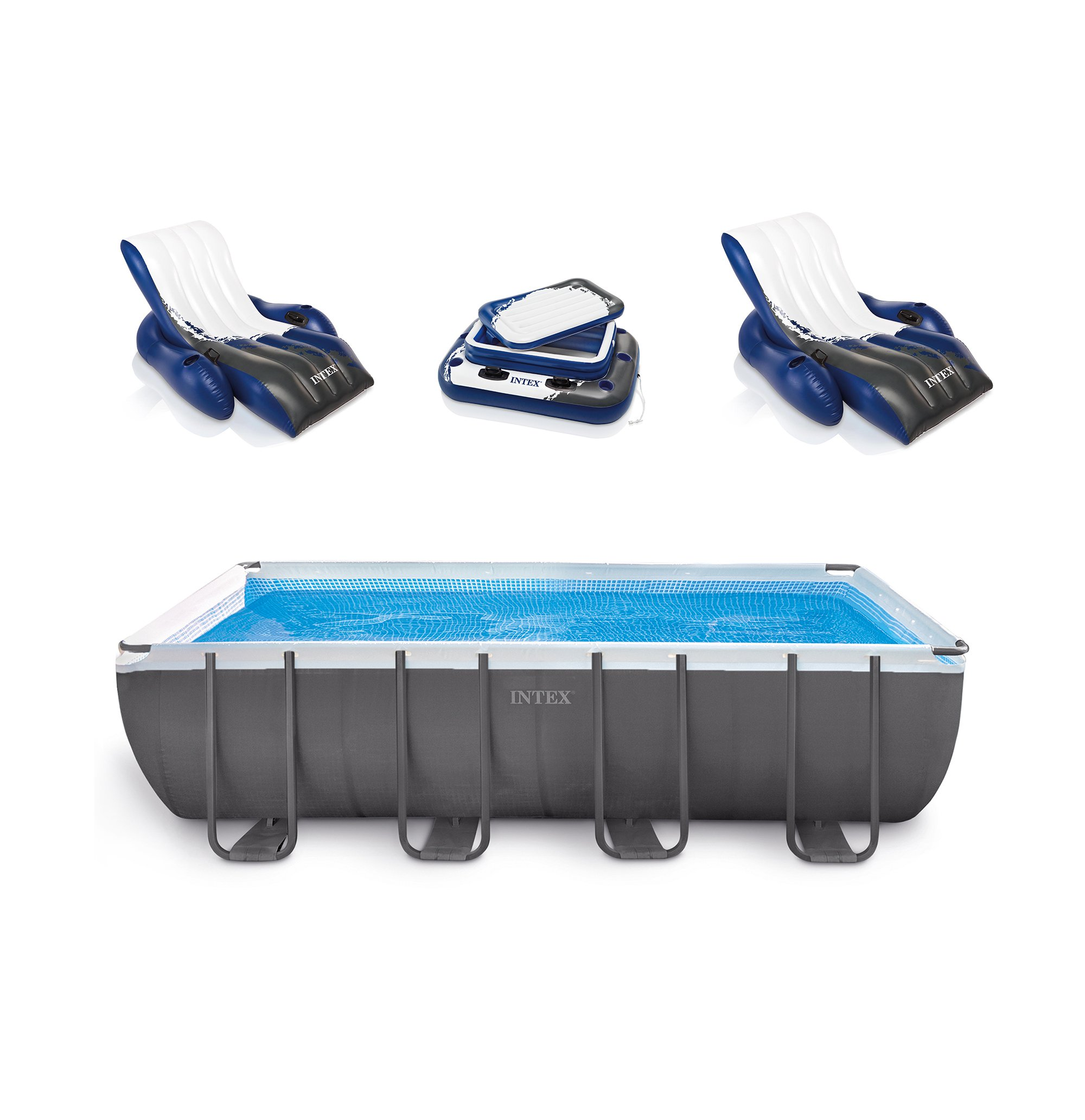 "Intex 18' x 9' x 52"" Ultra Frame Rectangular Above Ground Pool Set with Floats by Above Ground Pools"