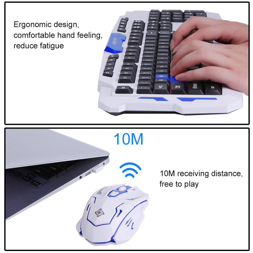 HK8100 Intelligent Wireles s 2.4G Gaming Keyboard And Mouse Computer Mice