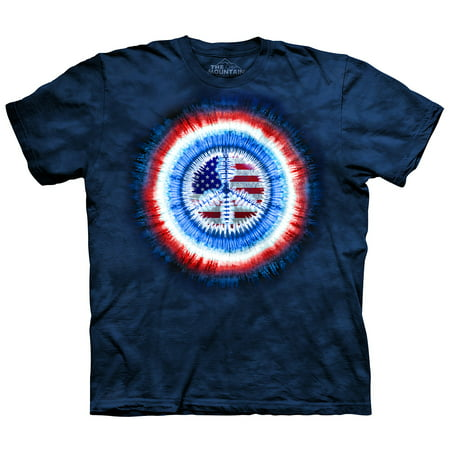 The Mountain Peace USA Flag Tie Dye T-Shirt - Tie Dye Shirts For Sale