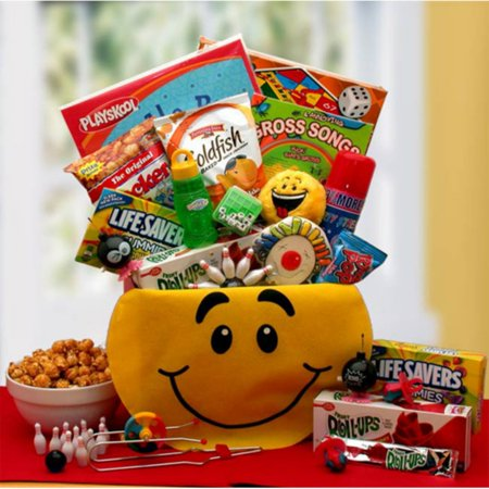 Gift Basket Drop Shipping A Smile Today Kids Smiley Face Activity Gift Box - Halloween Gift Baskets For Children