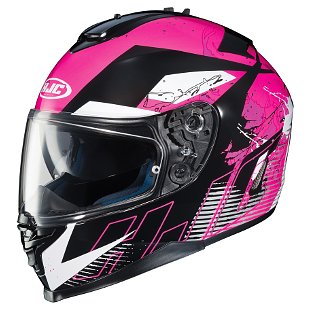 HJC IS-17 Blur Helmet Pink/Black