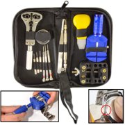 13-Piece Watch Repair Tool Kit with Pouch - Replace Batteries, Change Bands, Maintenance, and More