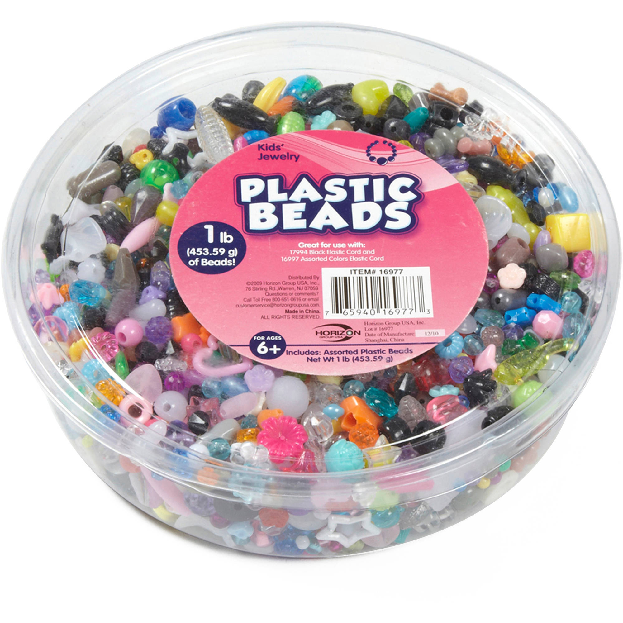 Horizon Group USA Kids Craft Plastic Bead Value Pack, 1 Each