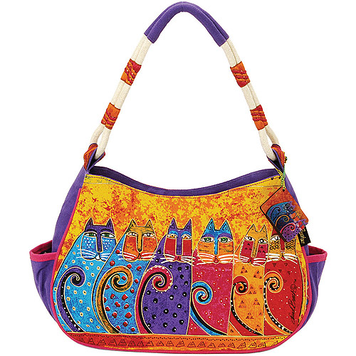 "Feline Tribe - Medium Hobo Zipper Top 11.5""X4""X9"""