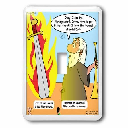 3dRose Ezekiel 33 1 11 The Boogie Woogie Bugle Boy of Company B Bible flaming sword trumpet vuvuzela, Single Toggle Switch](Custom Vuvuzela)