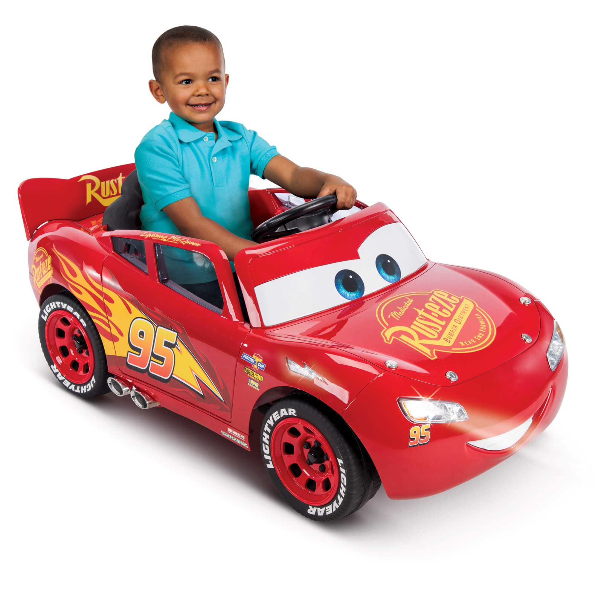Disney Pixar Cars 3 Lightning McQueen 6V Battery-Powered Ride On by Huffy - Walmart.com  sc 1 st  Walmart & Disney Pixar Cars 3 Lightning McQueen 6V Battery-Powered Ride On by ...