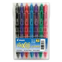 Pilot FriXion Clicker Erasable Gel Ink Retractable Pen, Assorted Ink, .7mm, 7/Pack -PIL31472