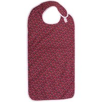 DMI Waterproof Adult Bibs for Eating, Adult Cloth Bib for Men and Women, Adult Mealtime Clothing Protector for Senior Citizens, Rose Print