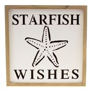 LED Lights Up Starfish Wishes Wall Plaque Cut Out Tabletop Decor 10 Inch
