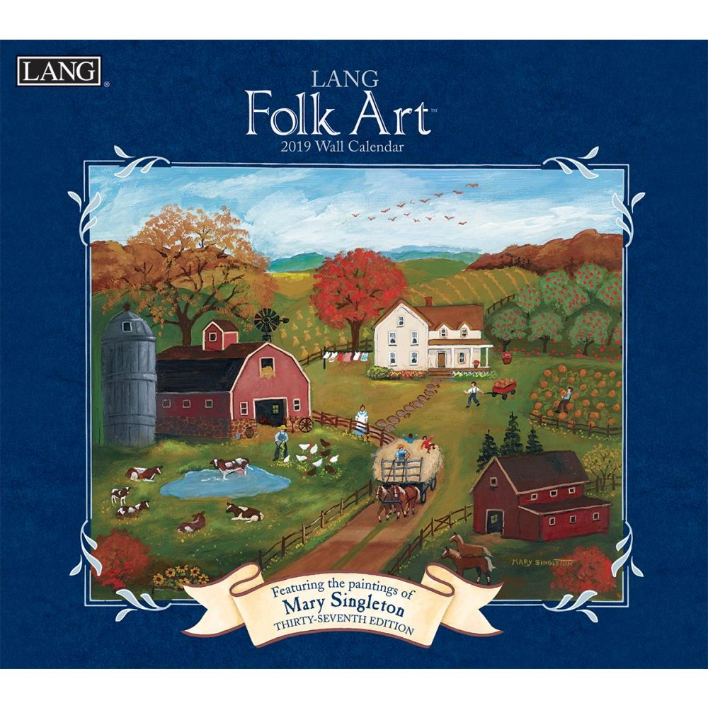 2019 WALL CALENDAR, LANG FOLK ART™