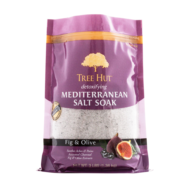 Tree Hut Detoxifying Mediterranean Salt Soak, Fig & Olive, 3 Lbs