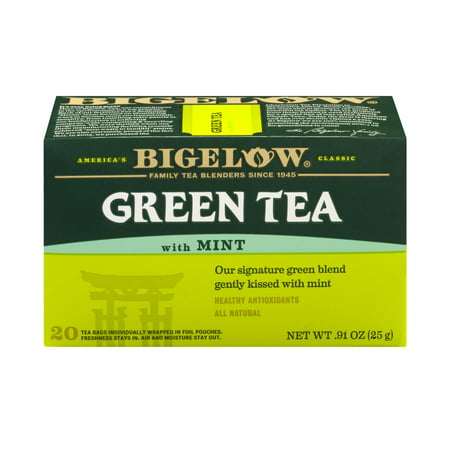 (3 Boxes) Bigelow® Green Tea with Mint 0.91 oz. Box