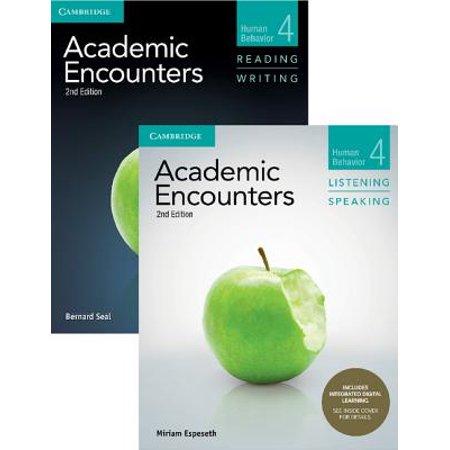 Academic Encounters Level 4 2-Book Set (R&w Student's Book with WSI, L&s Student's Book with Integrated Digital Learning) : Human Behavior ()