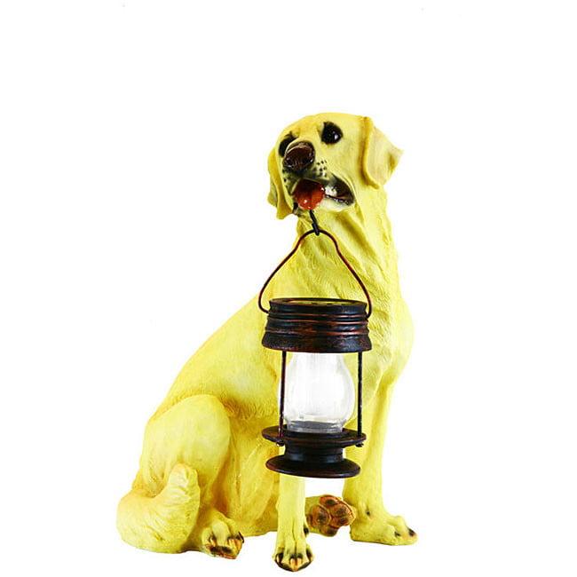 ASC Eco-Friendly Energy Saving Boxer Dog with Lantern Solar Light by Garden Sun Light