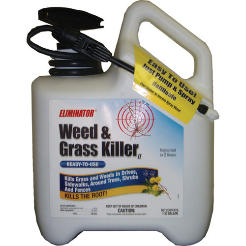 Eliminator Ready-to-Use Liquid Spray Wand with Hose Included Weed and Grass Killer, 1.33 gal