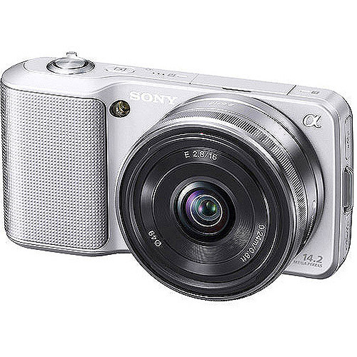 "Sony Alpha NEX-3K Silver 14.2MP DSLR Camera, 18-55mm, 3.0"" Tiltable LCD, 720/30p HD Movies"