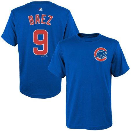 Javier Baez Chicago Cubs Majestic Youth Player Name & Number T-Shirt - (Royal Blue Youth Players T-shirt)
