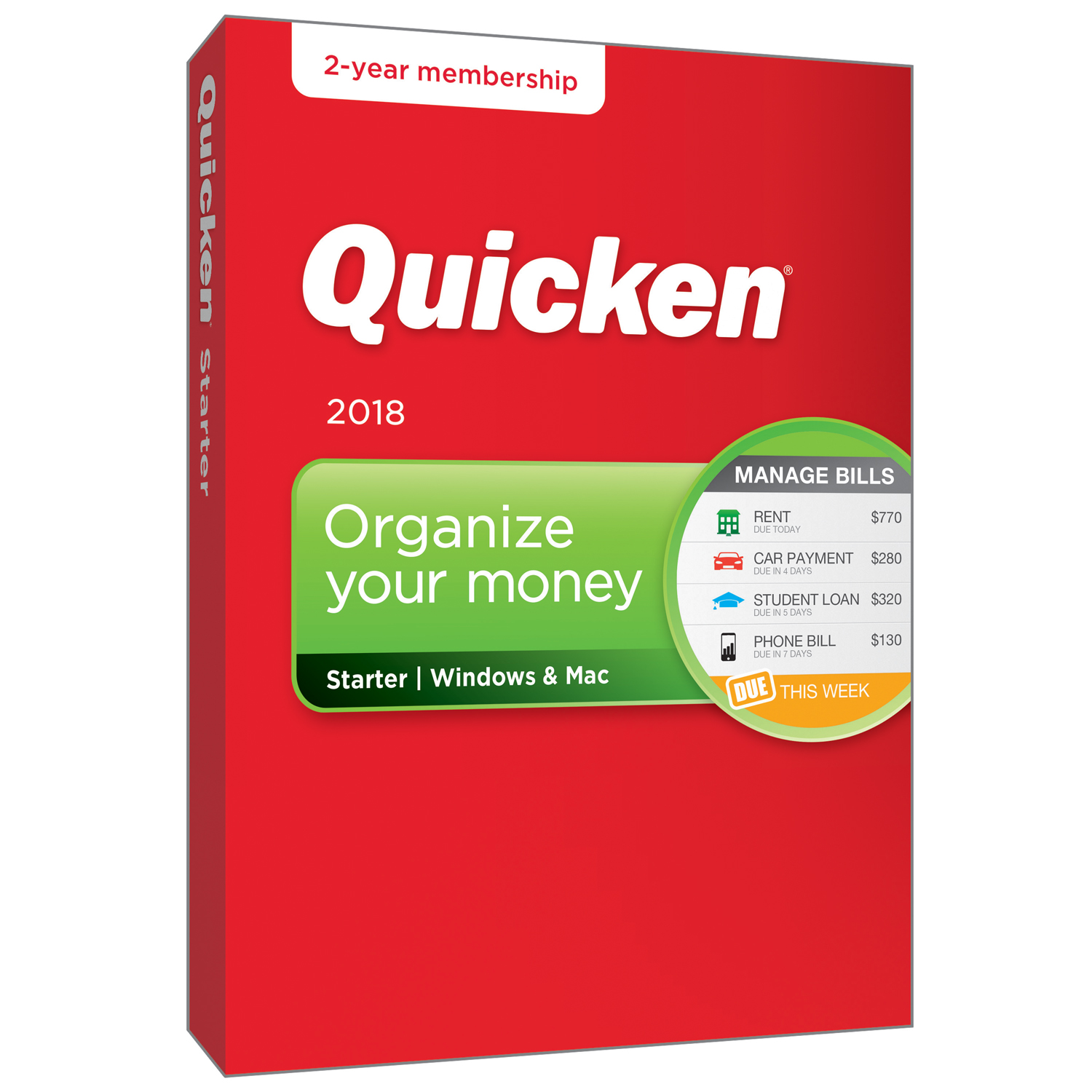 Quicken Starter 2-Year Win/Mac (2018 release)