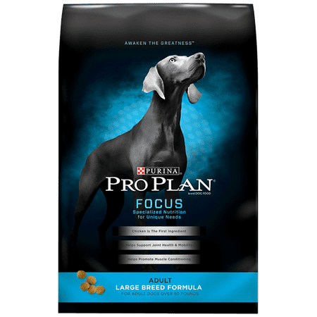 Purina Pro Plan FOCUS Large Breed Formula Adult Dry Dog Food - 34 lb. (Largest Dog Breed In The World 2012)