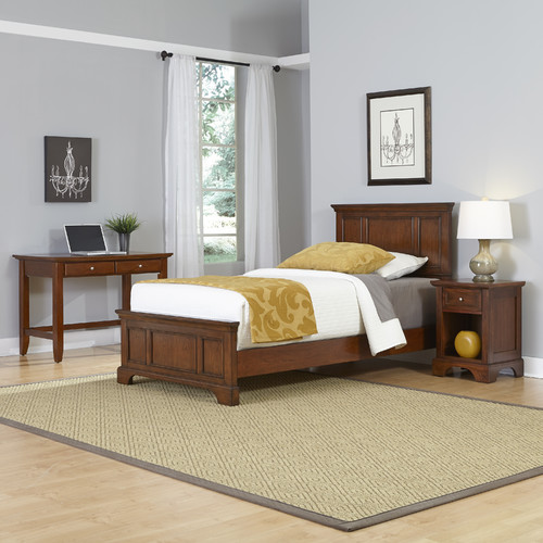 Home Styles Chesapeake Twin Bed, Night Stand and Student Desk