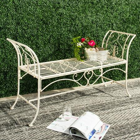 Safavieh Adina Indoor/Outdoor Wrought Iron Rustic Garden Bench