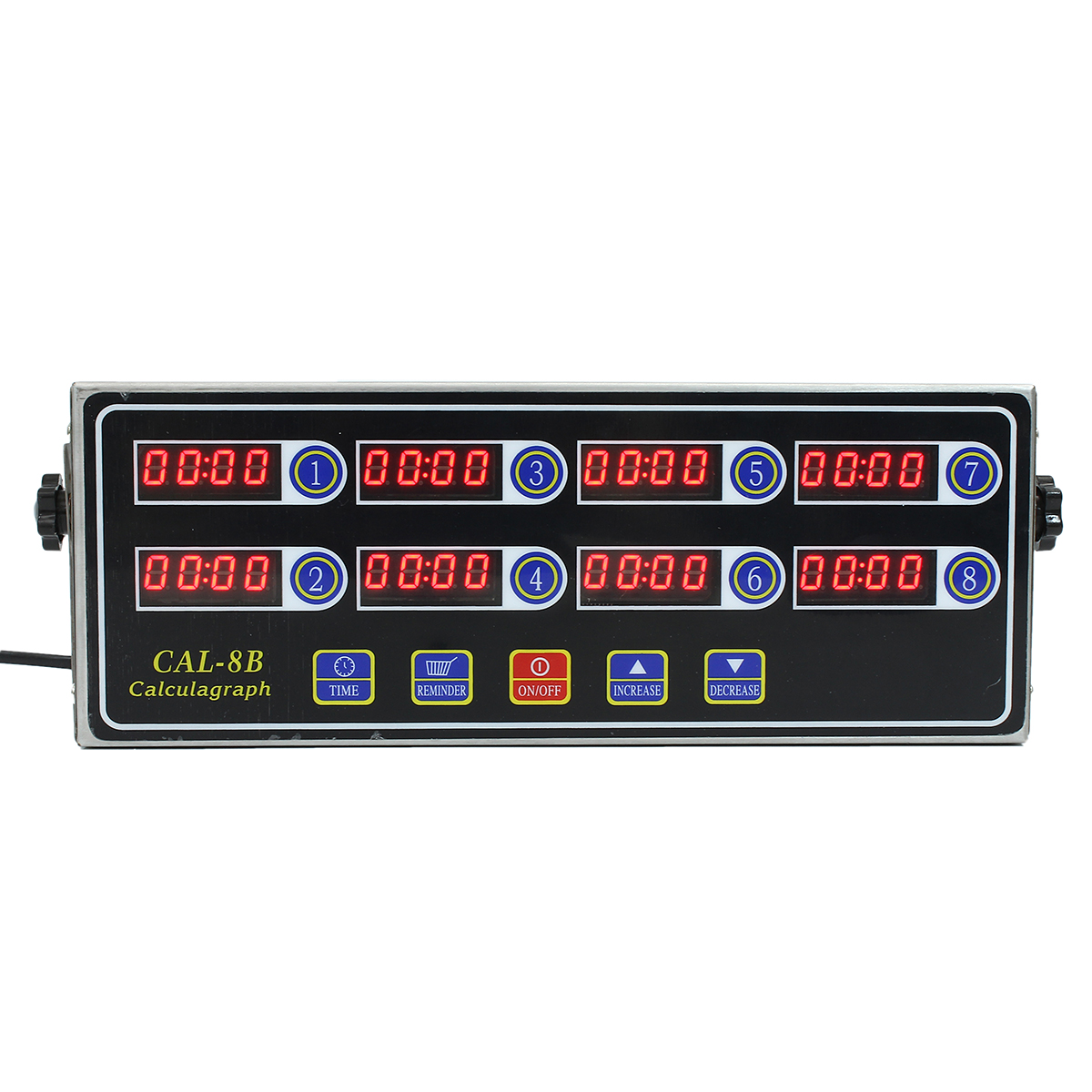 8 Channel LCD Digital Timer Kitchen Cooking CAL-8B Clock Shaking Timing Kitchen Timers With Ringer