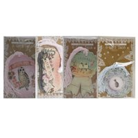 Papaya Art Glitter Gift Tag Set: Owl, Meerkat, Love Birds & Fish (24 Count)