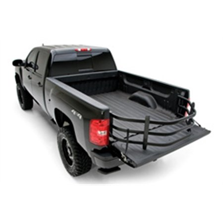 (AMP Research BedXTender HD Sport, Bed Mounted, Aluminum, Black Powdercoated, Chevy, Dodge, Ford, Toyota, Kit)