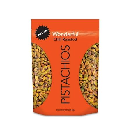 Wonderful No Shells Chili Roasted Pistachios 22 oz