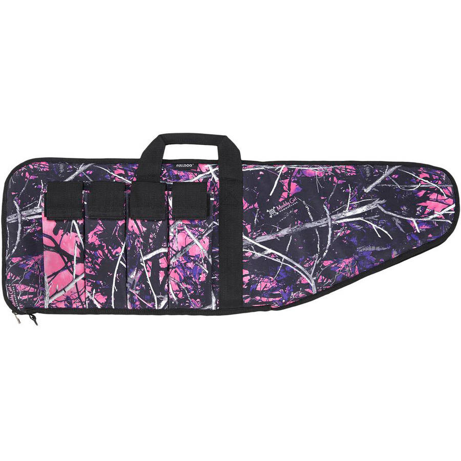"BULLDOG EXTREME TACTICAL RIFLE CASE 38"" 1000D NYLON MUDDY GIRL CAMO W/BLACK TRIM"