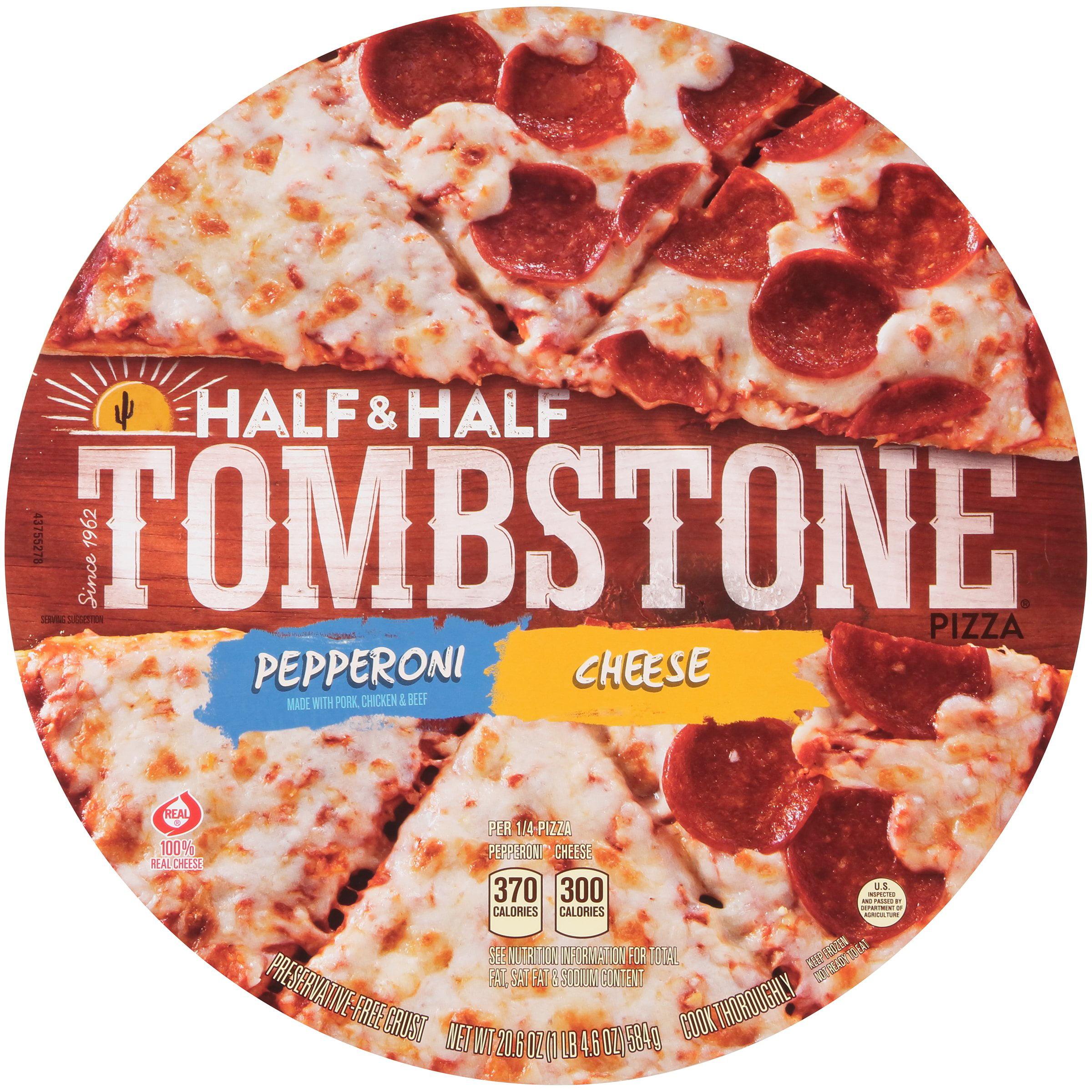 TOMBSTONE Original Half & Half Pepperoni/Cheese Pizza 20.6 oz.