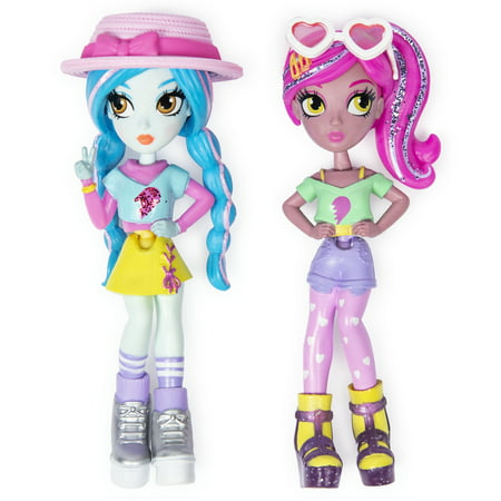 Off The Hook Style BFFs, Vivian & Mila (Summer Vacay), 4-inch Small Dolls for Girls Aged 5 and up