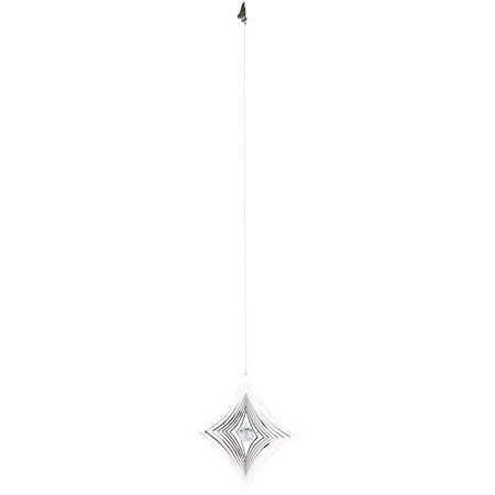 Woodstock Shimmers Crystal Parallax Metal Sun Catcher Spinner Decoration - Woodstock Decorations