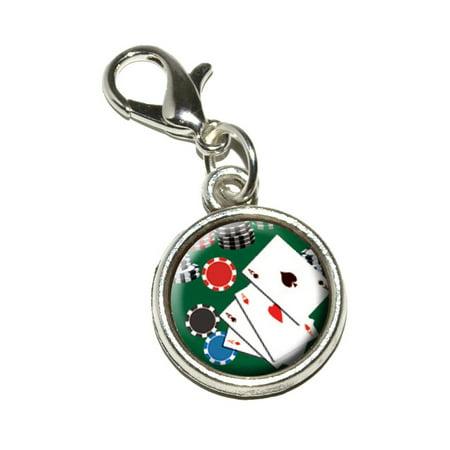 Poker Aces - Cards Chips Gambling Bracelet (Gambling Jewelry)