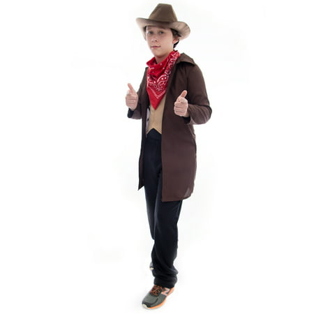 Boo! Inc. Ride 'em Cowboy Halloween Costume | Western Outlaw Sheriff Boys Dress - Western Style Costumes