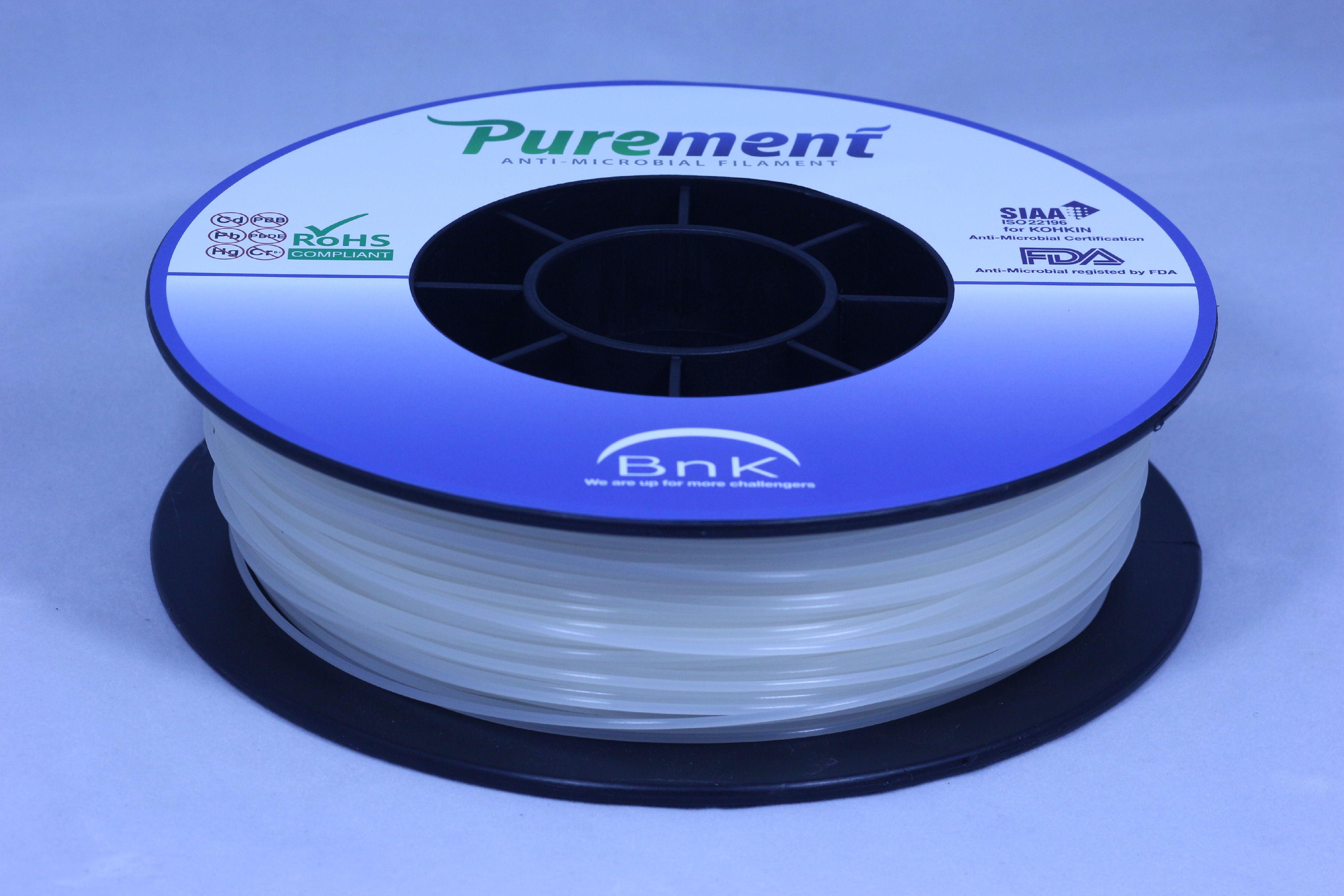 PUREMENT®Anti Bacterial Color Filaments 1.75mm,a PLA that Kills Germs
