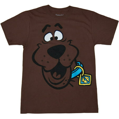 Scooby Doo Face Adult T-Shirt - Scooby Doo Shirts For Adults