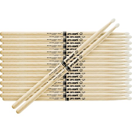 Promark 12-Pair Japanese White Oak Drumsticks Nylon 7A