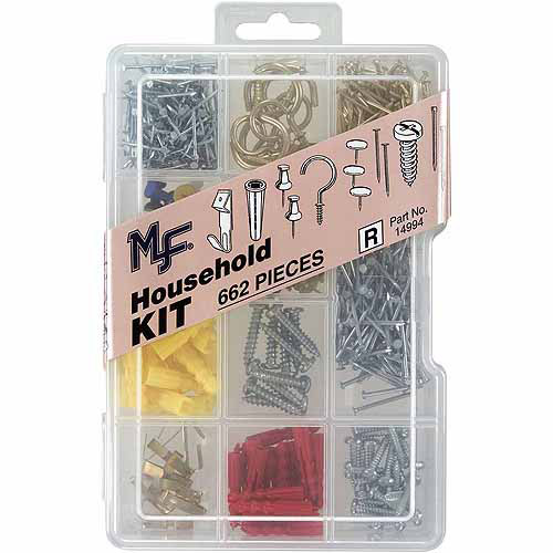 Midwest Fastener Corp 662pc Household Assortment Kit