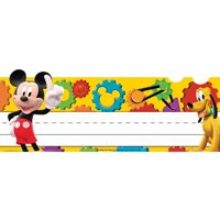 Mickey Mouse Clubhouse Mickey Gears Tented Name Plates, Each Pack Includes 36 Tented Name Plates (72 If Cut In Half) By Eureka